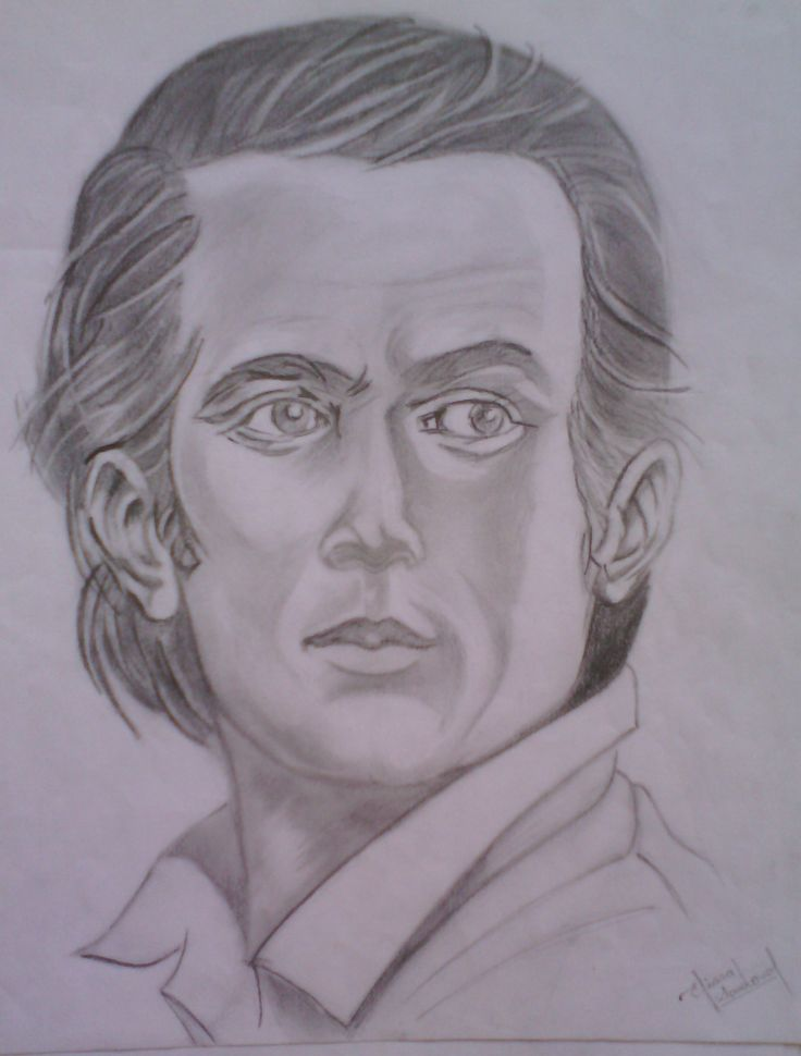 Portrait drawing.