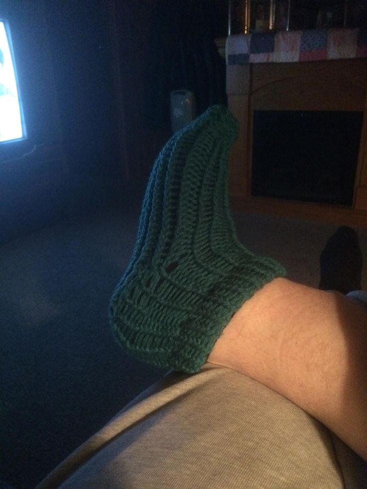 Loomed sock by Shawn Beal