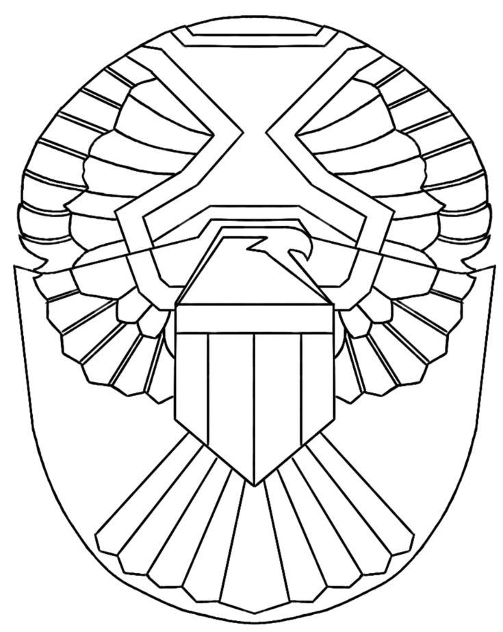 DIY Judge Dredd shoulder eagle pattern by Mexicutioner46 on www.therpf.com