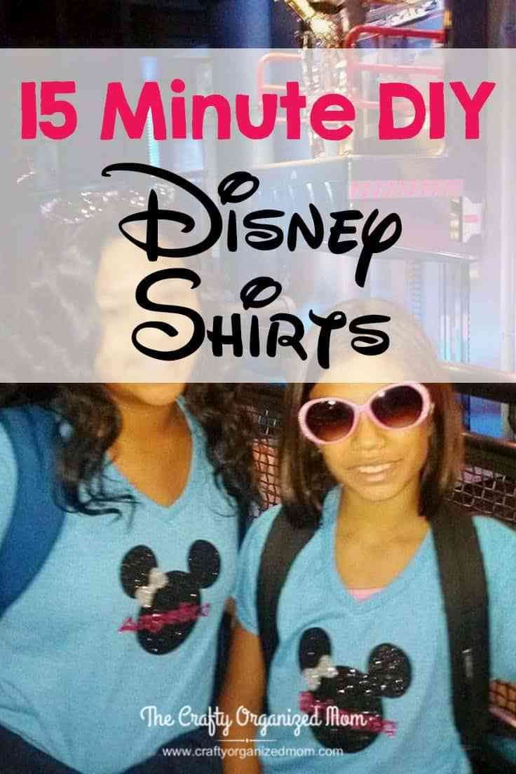So in love with these DIY Personalized Disney Shirts! They only take about 15 minutes to make and will be perfect for your next trip to Disney or just because! Disney | Personalized | Shirt | Tween | Teen | Matching | Customized | DIY | Cricut | Mickey | Minnie | Family | Reunion | Sibling | Mom | Mother
