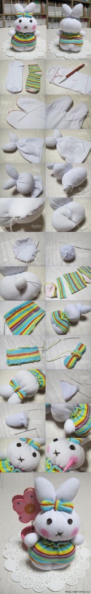sock bunny TUTORIAL by leann