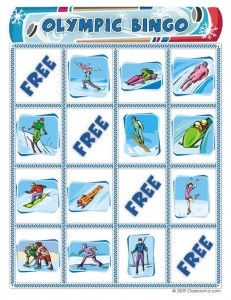 Free Winter Olympics Bingo Printable: Winter Olympics Crafts for Kids. #StayCurious