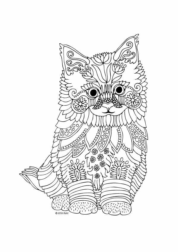 624 best ✐Adult Colouring~Cats~Dogs ~Zentangles images on Pinterest ...