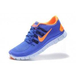 Nike Free 5.0+ Unisex Blå Oransje   Nike sko tilbud   billige Nike sko på nett   Nike sko nettbutikk norge   ovostore.com