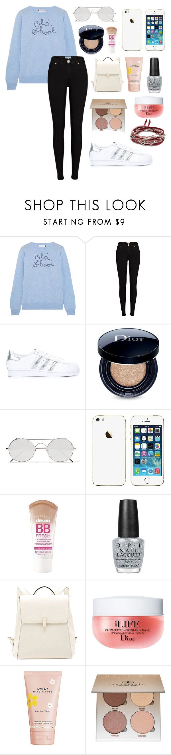 """Baby, we found love right where we are."" by alyssa-wilsonn ❤ liked on Polyvore featuring Lingua Franca, River Island, adidas Originals, Christian Dior, Linda Farrow, Maybelline, OPI, Valextra, Marc Jacobs and Anastasia Beverly Hills"