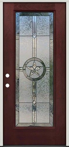 Texas Star Full Lite Pre-finished Mahogany Fiberglass Prehung Door Unit #90A & Best 20+ Prehung doors ideas on Pinterest | Slider window Wrought ... Pezcame.Com