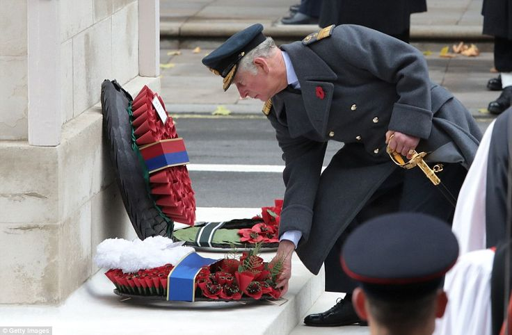 Charles led services down on Whitehall at the request of the Queen, while Prince Philip's ...