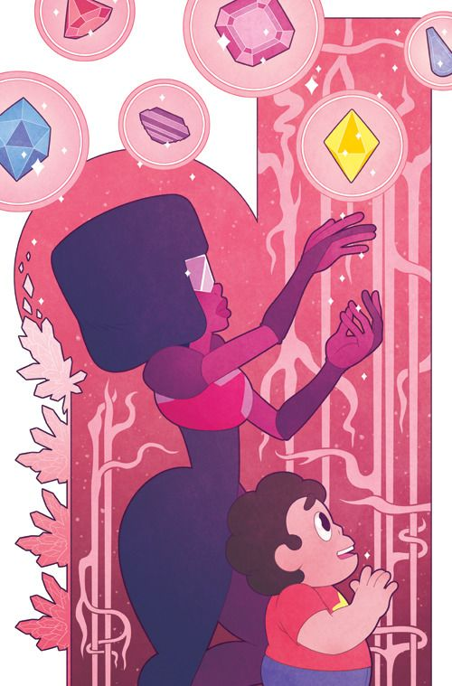 Cover I did for Steven Universe issue 5! You can get it in comic shops, order through the BOOM! Studios website, or get it digitally on Comixology. You can also see the WIP of this over on my Patreon...