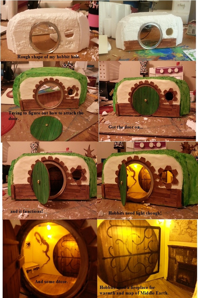 My DIY Hobbit Hole that will be going in my (Hobbit) Fairy garden.