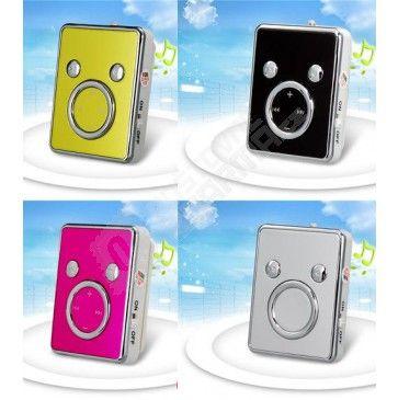 Mini MP3 prehrávač s klipom na microSD karty - 5 farieb