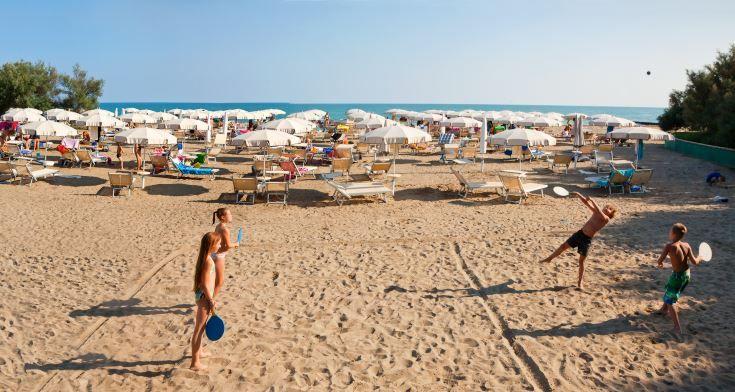 #beach in Porto Santa Margherita, #caorle in  #italy