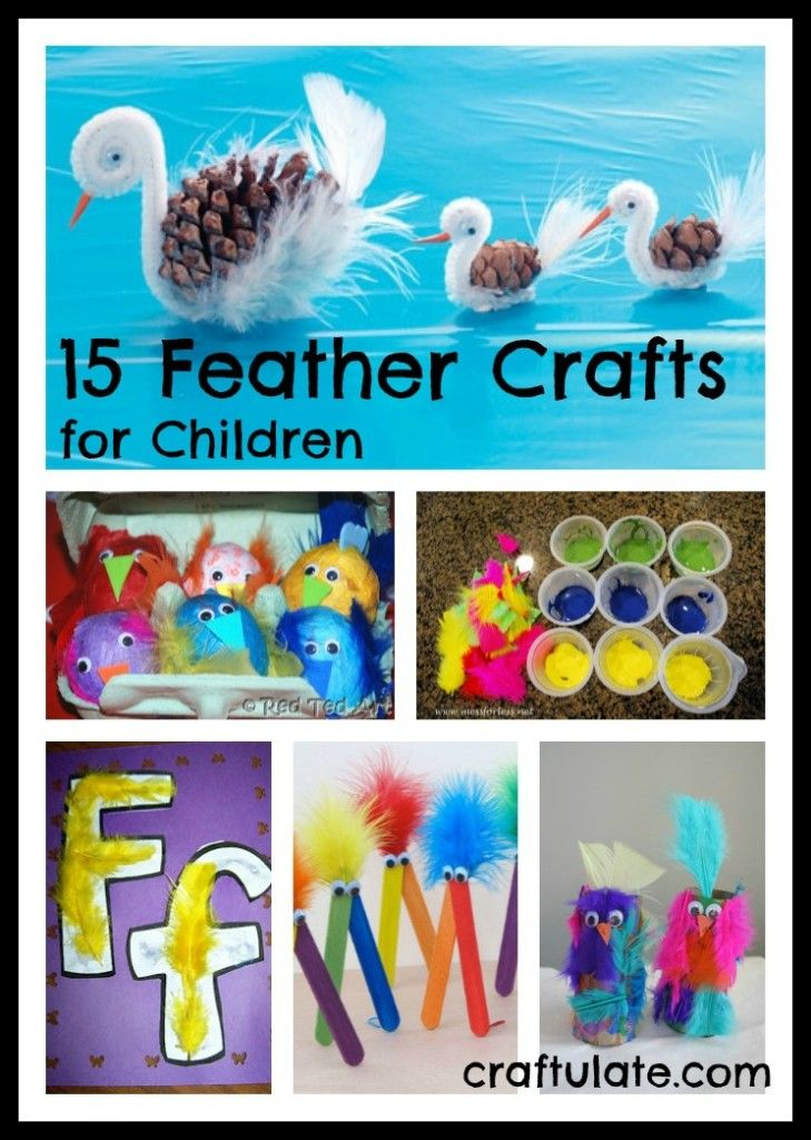 15 Feather Crafts for Children - Craftulate