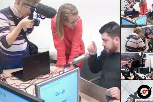 Кандидат в президенты России Ксения Собчак чуть не сорвала эфир радиостанции «Эхо Москвы».