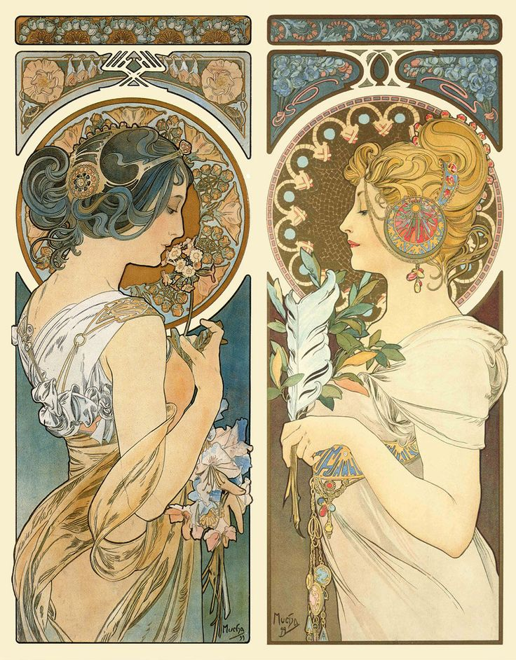 Alphonse Mucha, 1860 - 1939 I can't believe it's taken me this long to post about my man Mucha. Alphonse Mucha was born in 1860 during the Czech National Revival. He studied art in Munich and in Paris...