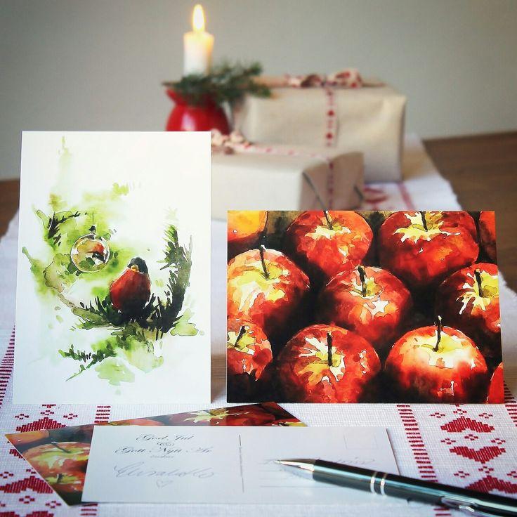 Julkort jag säljer. elisabethbistrom.se. /Christmas cards I've made.