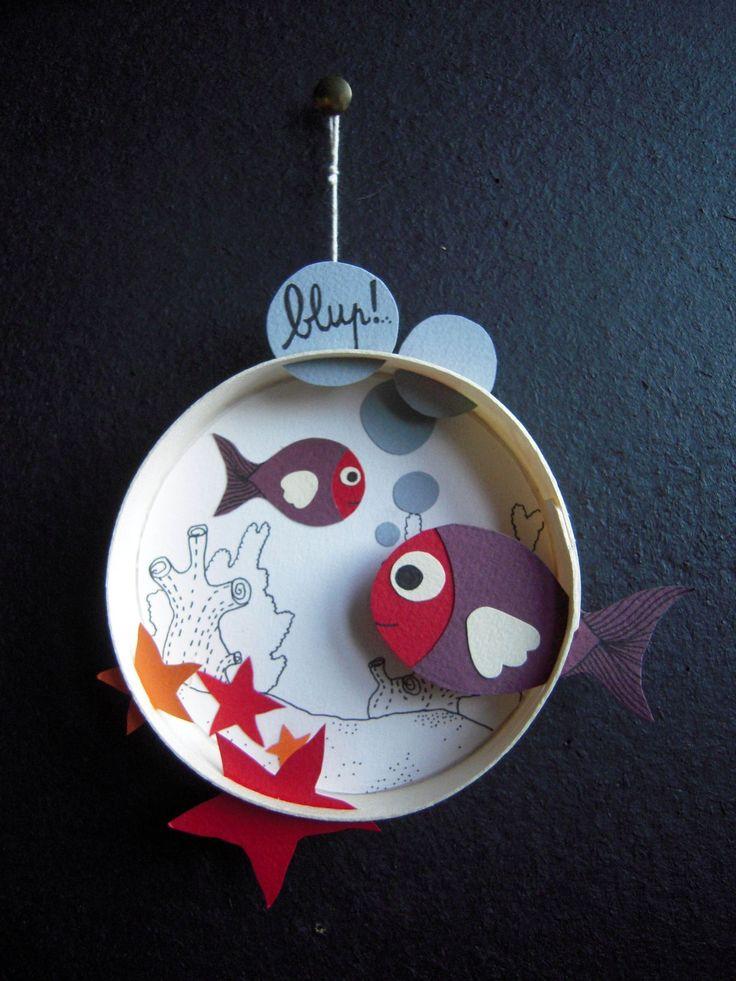 poisson rouge et violet