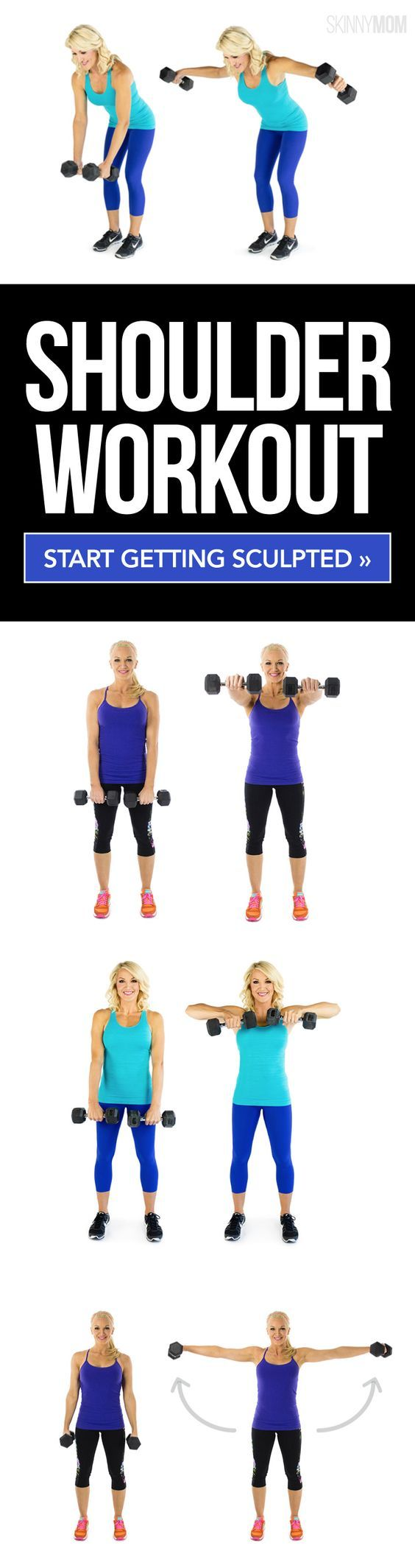 Sculpt those shoulders with dumbbells!
