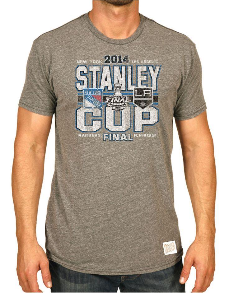 New York Rangers Los Angeles Kings Retro Brand 2014 Stanley Cup Finals T-Shirt #OriginalRetroBrand #NewYorkRangers