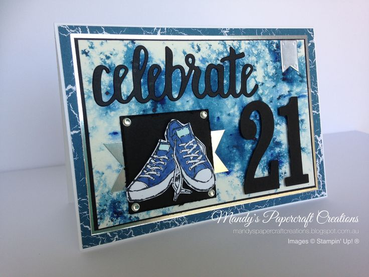 Celebrate being 21. Stampin' Up! Epic Celebrations stamp set and Celebrate You Thinlits die. Mandyspapercraftcreations.blogspot.com.au