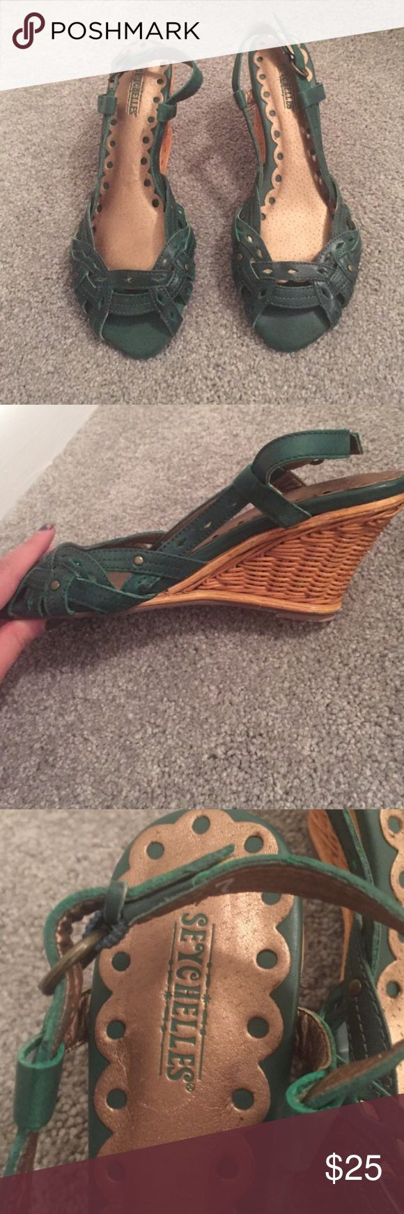 Seychelles wicker he'll green/turquoise shoe Supercuts and summery shoes! Seychelles Shoes Wedges