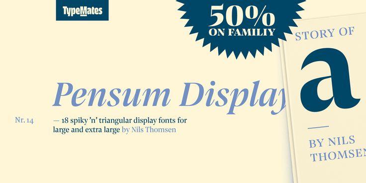 Pensum Display - Webfont & Desktop font « MyFonts