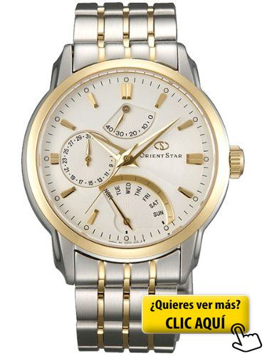 Orient Star atrás Day reloj con fecha, reserva de... #reloj #hombre