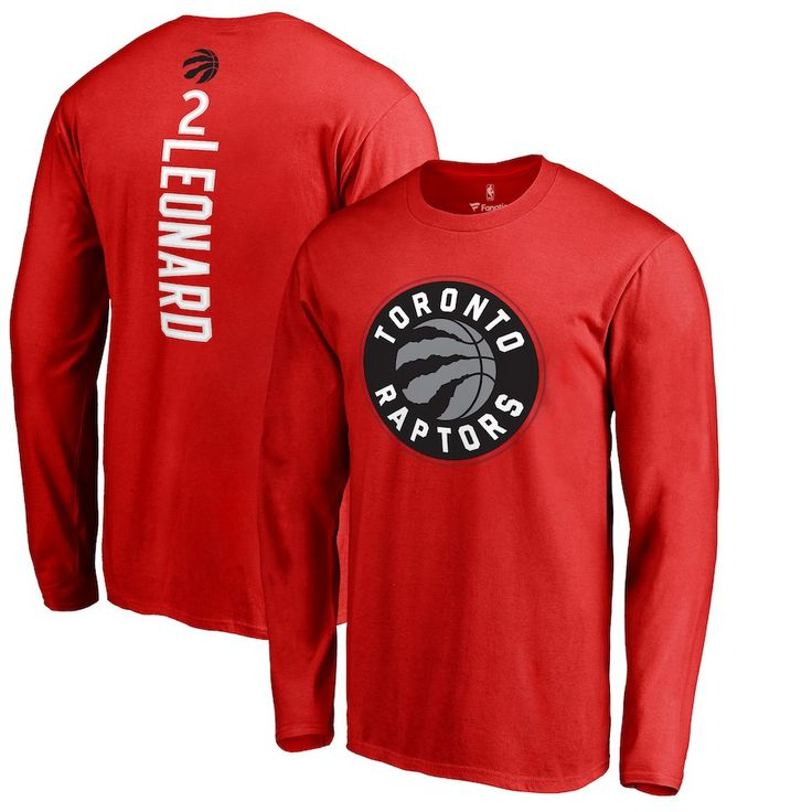 5bd36828796 Kawhi Leonard Toronto Raptors Fanatics Branded Team Backer Name & Number  Long Sleeve T-Shirt – Red | Jerseys | Pinterest | Toronto Raptors, ...