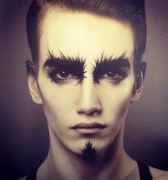 high fashion male makeup - Google Search