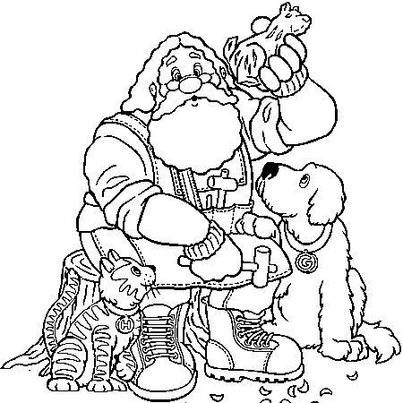 9 best noel images on pinterest coloring pages santa - Dessin a colorier pere noel ...