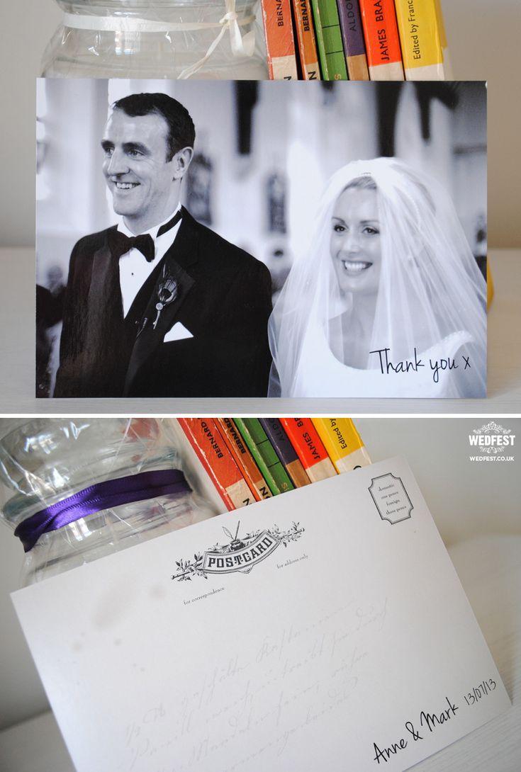 wedding thank you card postcards