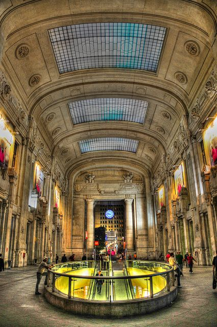 Stazione di Milano Centrale (Central Train Station) Milan, Italy - #Expo2015 #WonderfulExpo2015