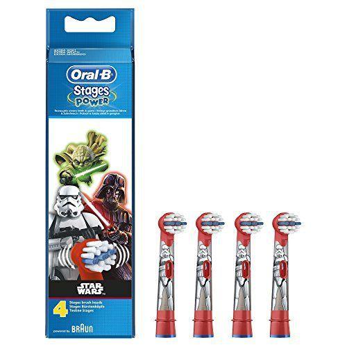 Oral-B Brossettes De Rechange Pour Brosse À Dents Électrique Star Wars x4: Un design amusant pour encourager le brossage Des brossettes…