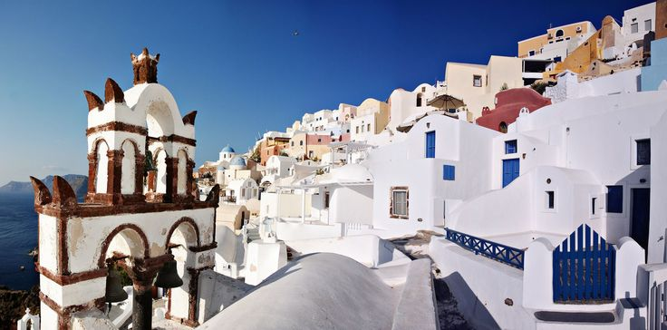 Fira has many churches around to visit! #Santorini