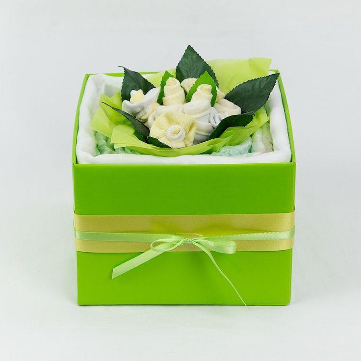 Lemon/Lime Baby Nappy Bouquet