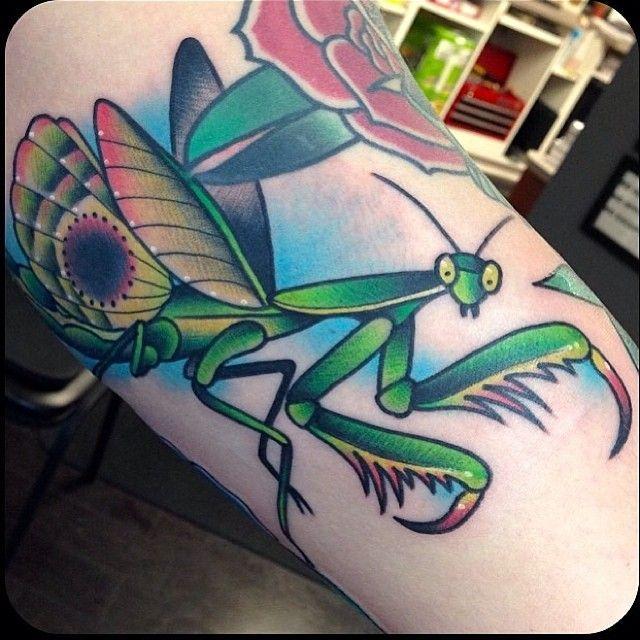 Pin By Lhiannan Shee On Tattoos Mantis Tattoo Bug Tattoo Tattoos