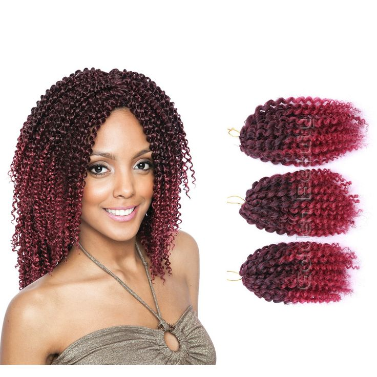 3pcs/set 8inch Ombre Synthetic Braiding Hair Crochet Braids Hairstyles Twist Braid Hair Kinky Curly Crochet Hair Extensions -  http://mixre.com/3pcsset-8inch-ombre-synthetic-braiding-hair-crochet-braids-hairstyles-twist-braid-hair-kinky-curly-crochet-hair-extensions/  #HairExtension