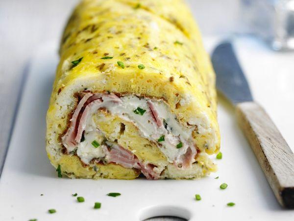 Omelette roulée au jambon et au chèvre - Femmes d'Aujourd'hui