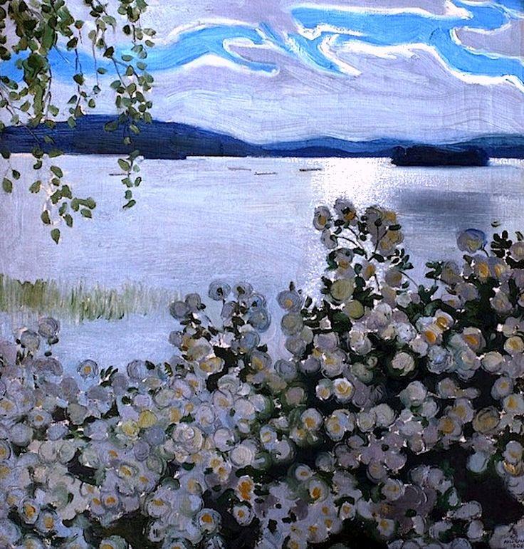 White Roses, Akseli Gallen-Kallela 1906
