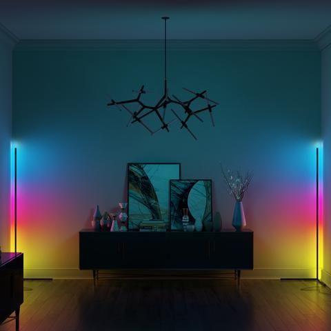Corno Minimal Modern Led Lamp Light Modern Motus In 2020 Corner Floor Lamp Color Floor Lamp Lamp