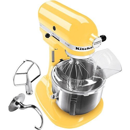 I have the white one but would love to have this yellow one so I could mix two different batches at the same time....New KitchenAid Pro 600 Stand Mixer KP26M1XQBF 6 Quart Yellow Professional Large