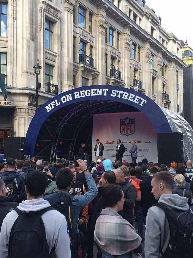 NFL London 2016. NFL on Regent Street event before the Colts @ Jaguars game.