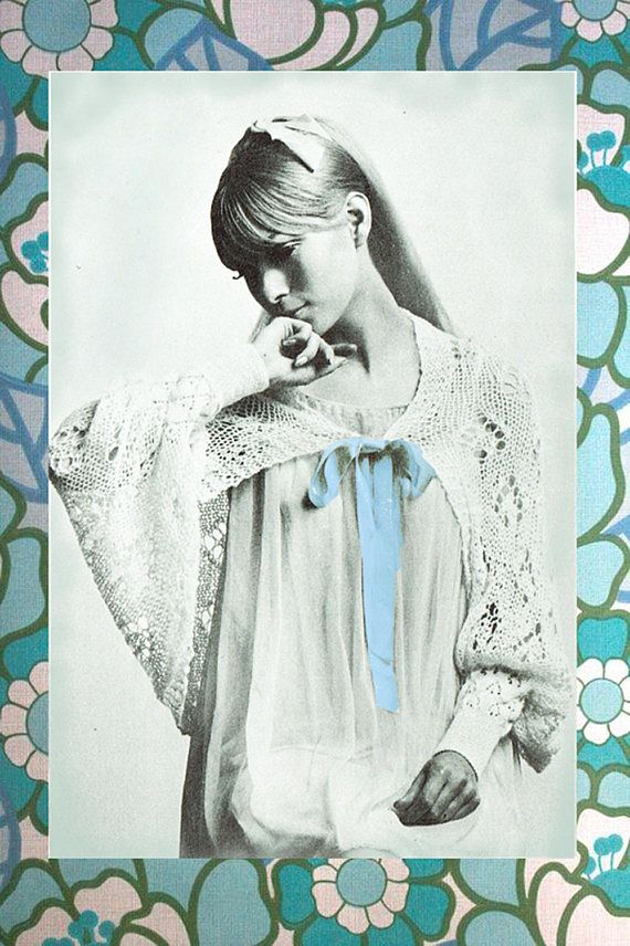 PDF Vintage 1960s Womens Ladies Bed Jacket Knitting Pattern