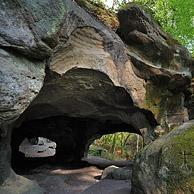 De Hohllay grot te Berdorf, Klein Zwitserland / Mullerthal, Groothertogdom Luxemburg