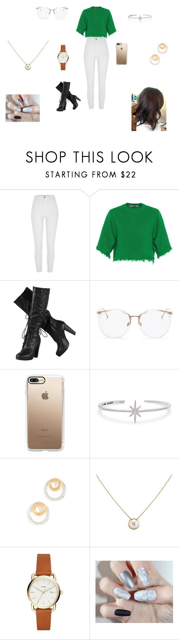 """Marvel - Bruce Banner's Daughter (The Hulk)"" by messa2021 ❤ liked on Polyvore featuring River Island, Valentino, Linda Farrow, Casetify, APM Monaco, Madewell and Cartier"