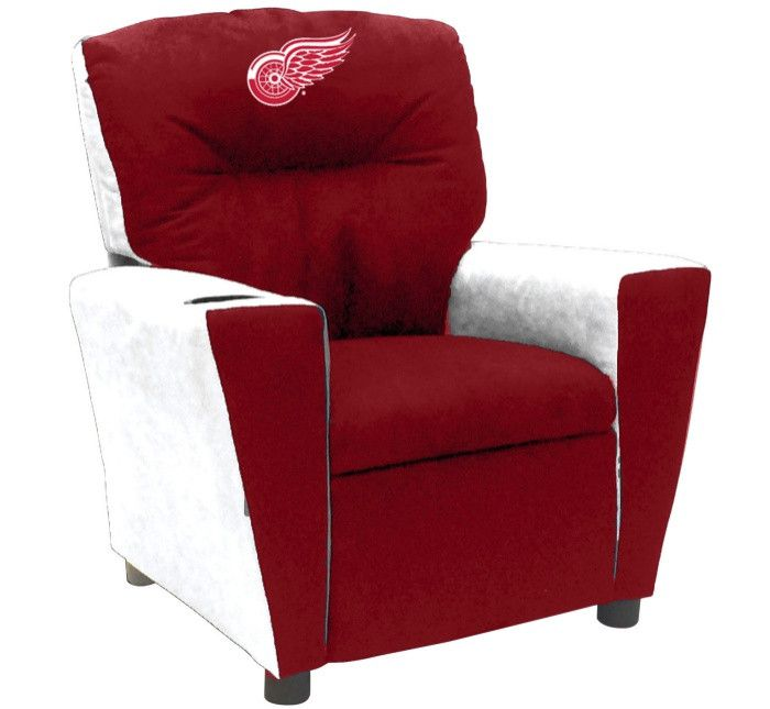 Detroit Red Wings NHL Kids Fan Favorite Microfiber Recliner - Visit SportsFansPlus.com for more details!