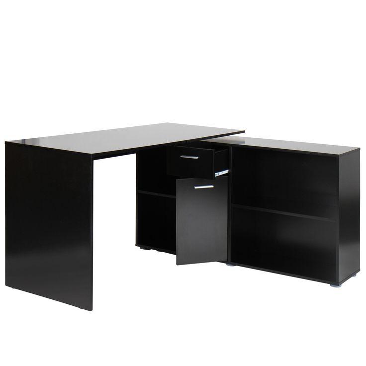 78 id es propos de bureau d angle noir sur pinterest. Black Bedroom Furniture Sets. Home Design Ideas