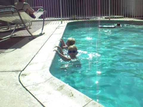 Swim lesson game: monkey on the wall