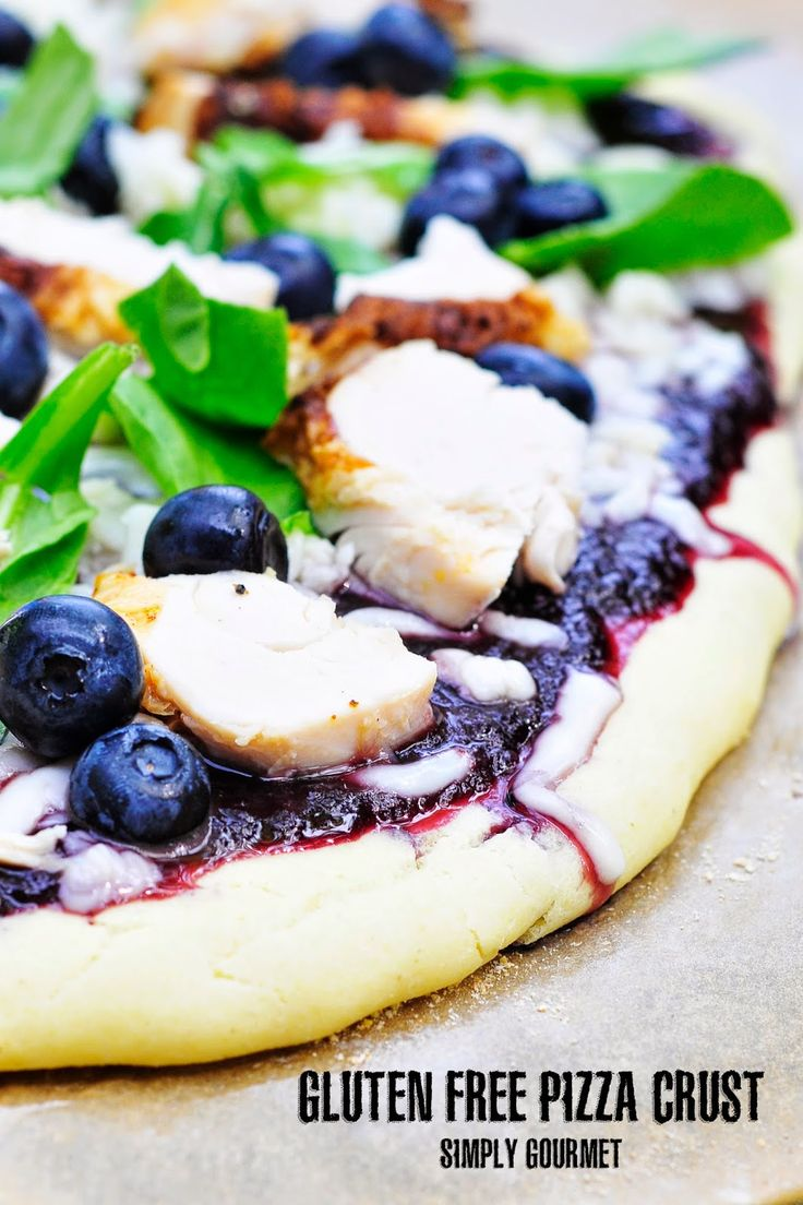 Gluten Free Buttermilk Pizza Crust | Simply Gourmet: Pizza Sundaysupp, Tangi Blueberries, Pizza Crusts, Bbq Chicken, Gluten Free, Blueberries Bbq, Only Bbq, Chicken Pizza, Simply Gourmet