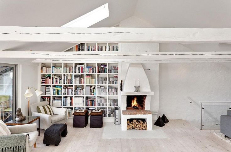 Bright Two Story Attic in Stockholm | HomeDSGN, a daily source for inspiration and fresh ideas on interior design and home decoration.