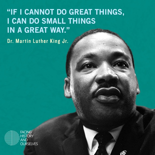 "King Quotes: ""If I Cannot Do Great Things, I Can Do Small Things In A"